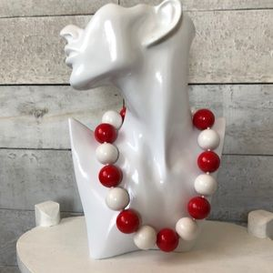 Vintage chunky acrylic beads necklace
